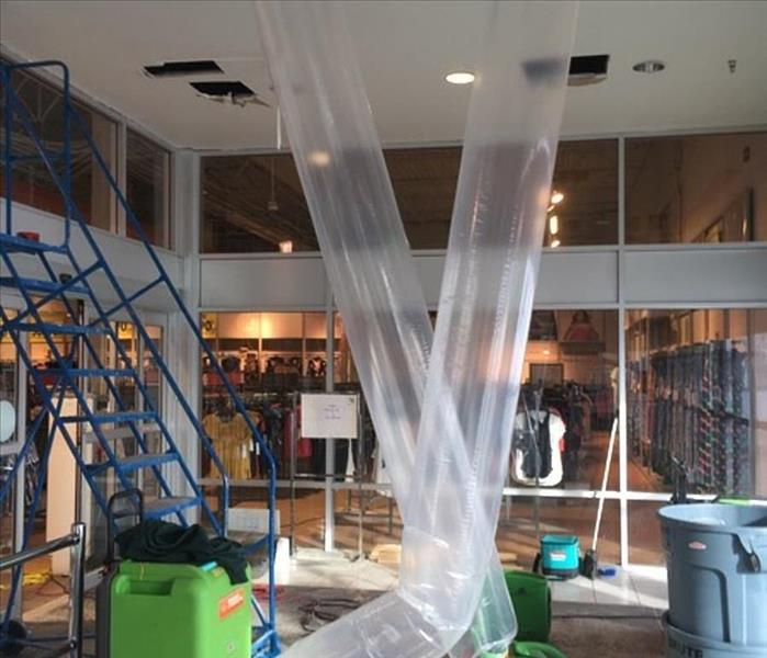 Sprinkler Head Burst in Calgary Store After