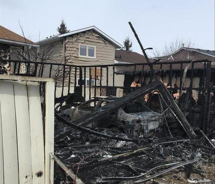 Calgary Garage Destroyed by Backyard Fire Before